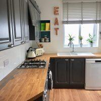 Valspar Gray Shingle Painted Kitchen Cabinets - Interiors ...