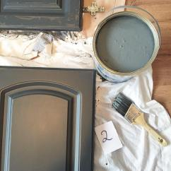 Navy Kitchen Cabinets Traditional Faucets Valspar Gray Shingle Painted - Interiors ...