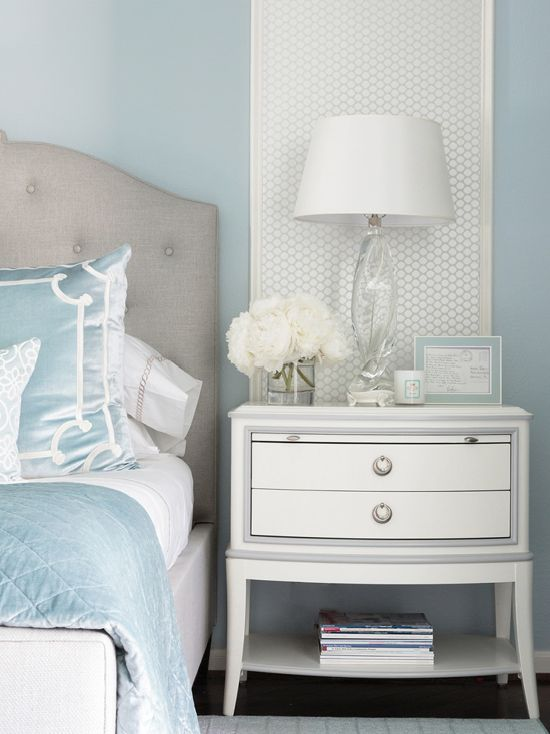 Beautiful Girl Black And White Wallpaper Benjamin Moore Brittany Blue Bedroom Interiors By Color