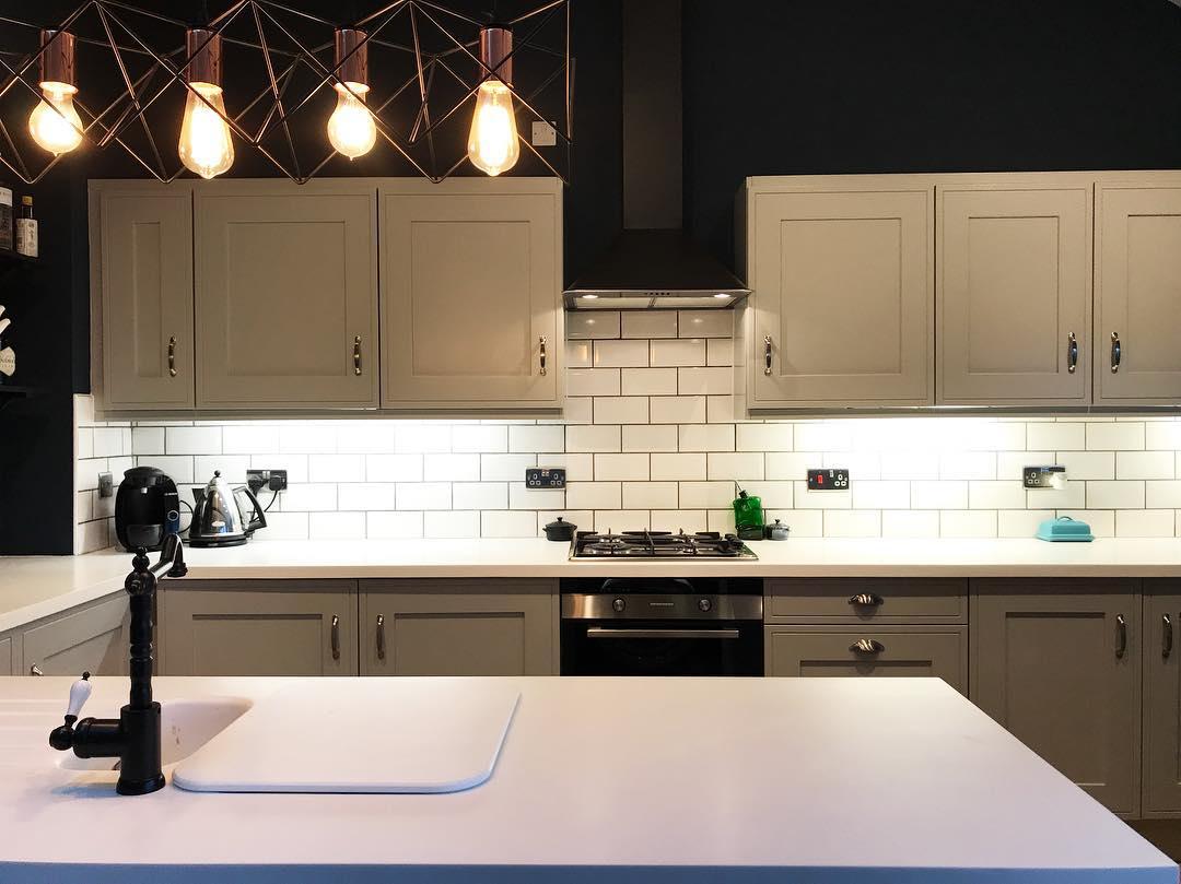 charcoal kitchen cabinets mats farrow & ball hague blue paint color schemes - interiors ...
