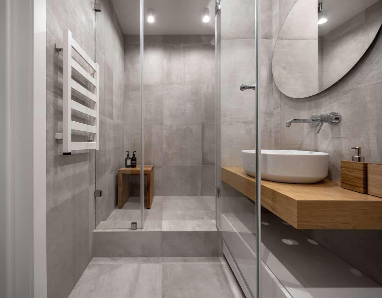 tiling the shower ceiling