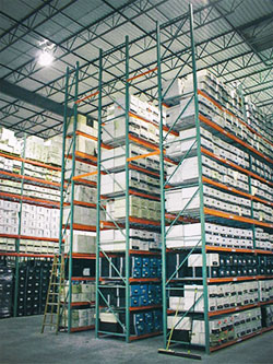 Document Storage   Off-site records storage   Interior Vault