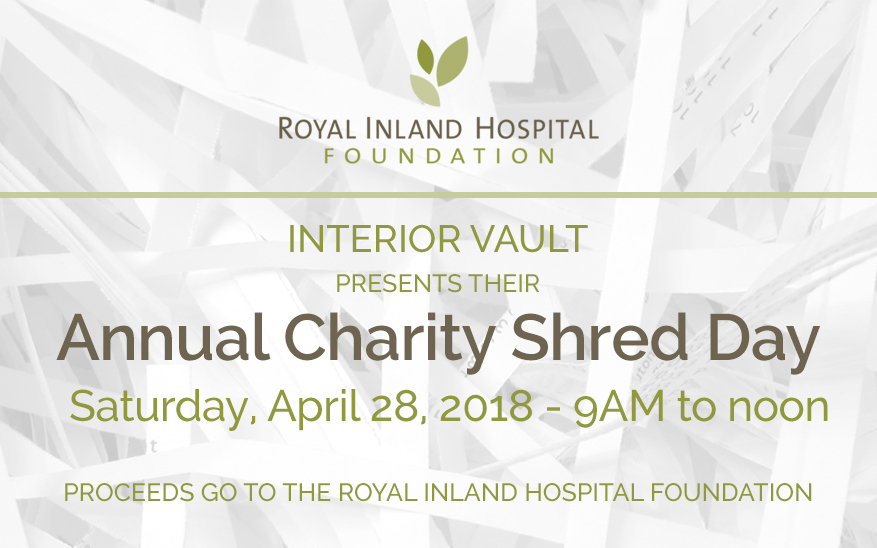 Annual Charity Shred Day – April 28, 2018