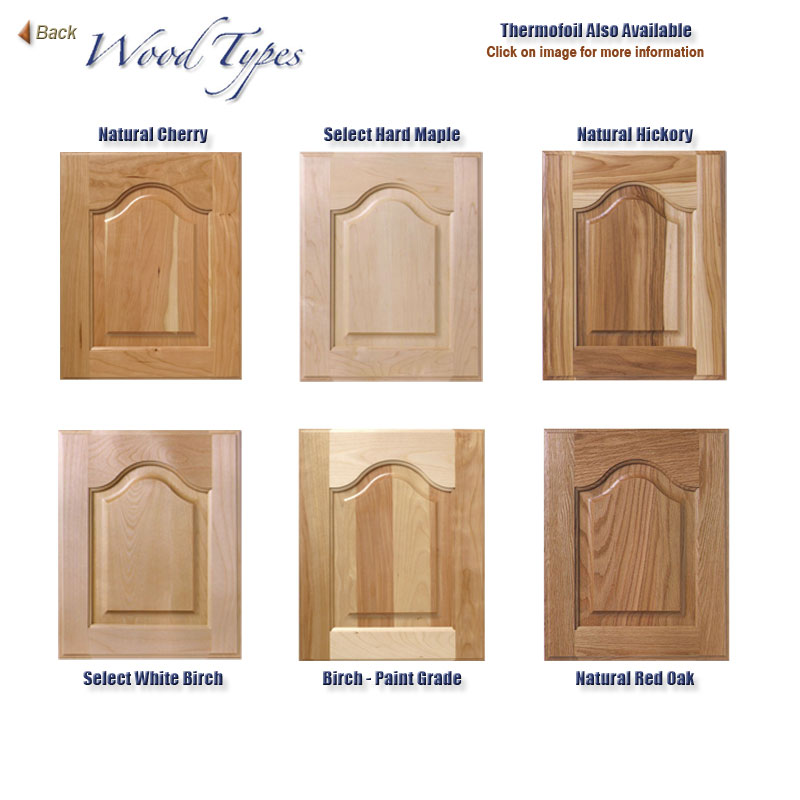 Types Wood Wood Kitchen Cabinets