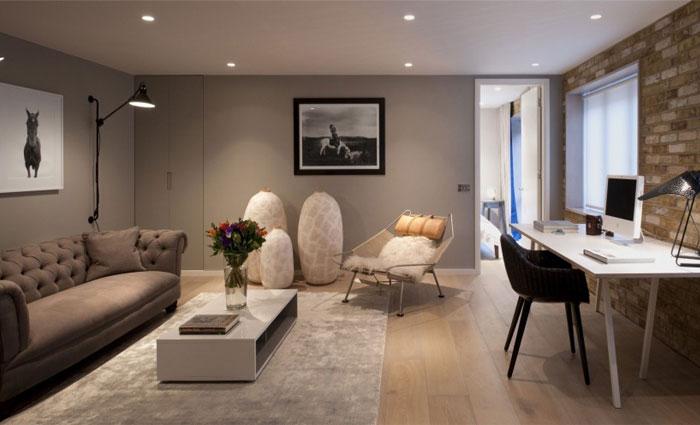 Luxurious London House With Exposed Brick Wall Interiorzine