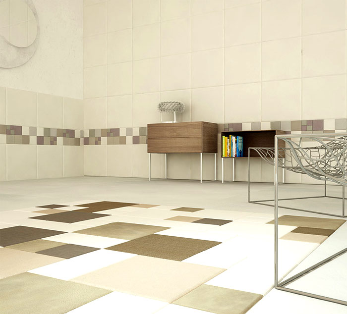 leather wall and floor tiles by lapelle