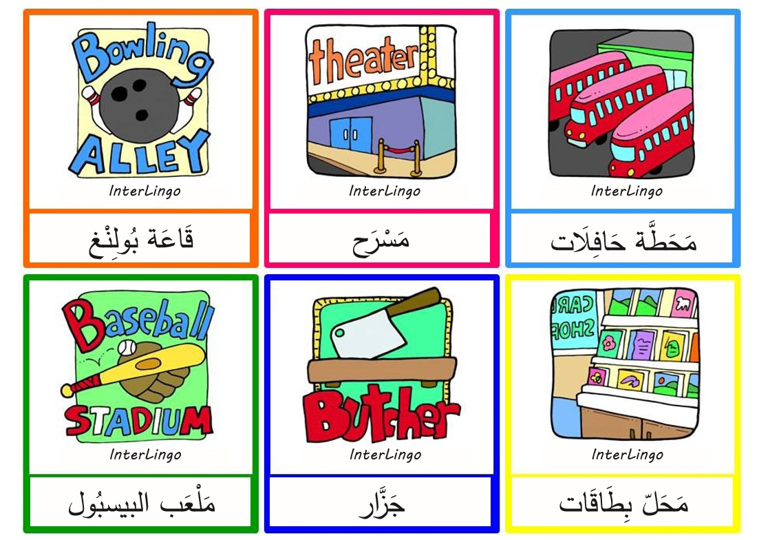Places In Town Flashcards Interlingo Languages
