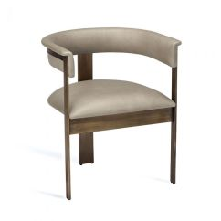 Dining Chair With Armrest Pier One Parson Covers Darcy Taupe Skip To The End Of Images Gallery