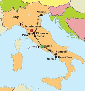 Italy Tour by High Speed Rail