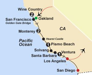 California coast & wine country guided vacation