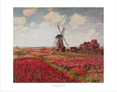 Claude Monet A field of Tulip in Holland
