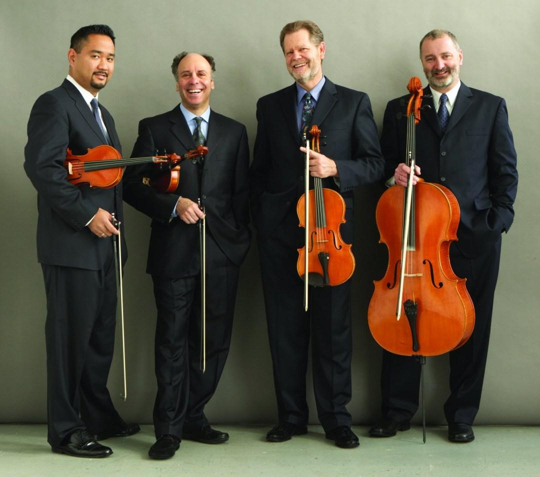 Alexander-String-Quartet_(L-R)Zakarias-Grafilo-violin_Frederick-Lifsitz-violin_Paul-Yarbrough-viola_Sandy-Wilson-cello_Photo-Rory-Earnshaw