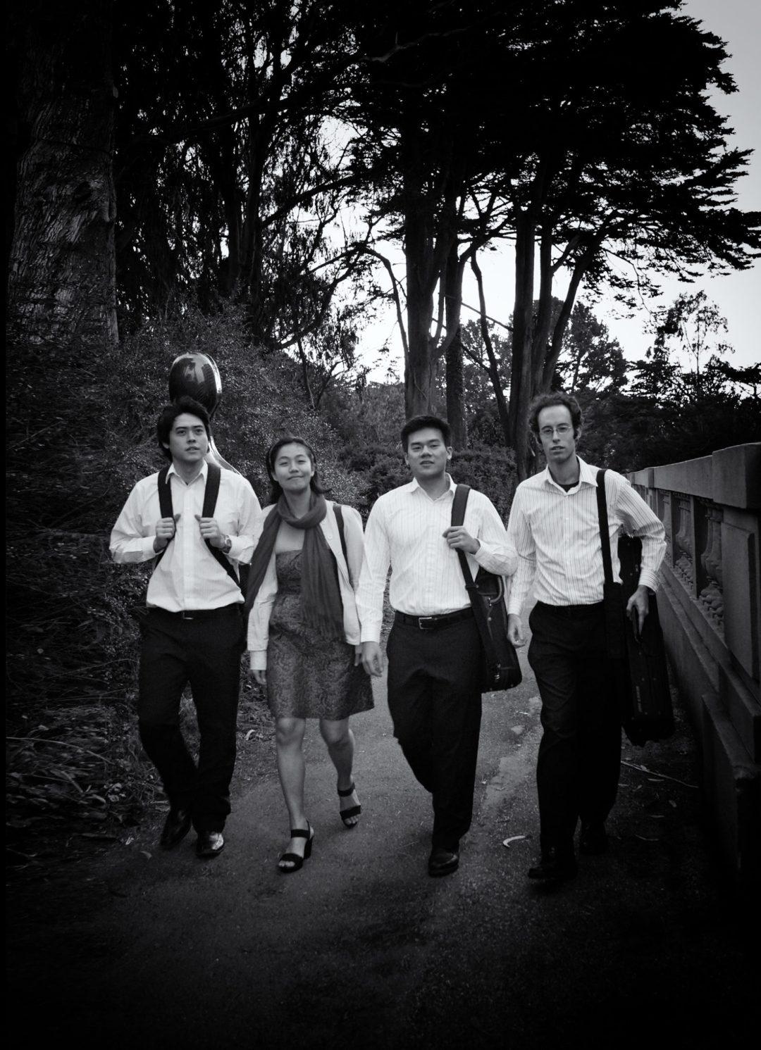 Telegraph-Quartet(L-R)Jeremiah-Shaw(cello)_Pei-Ling-Lin(viola)_Eric-Chin(violin)_Joseph-Maile(violin)_photo-Eric-Chin