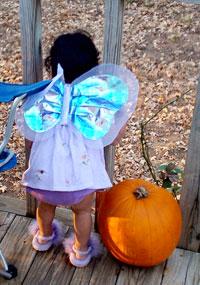 angel with pumpkin