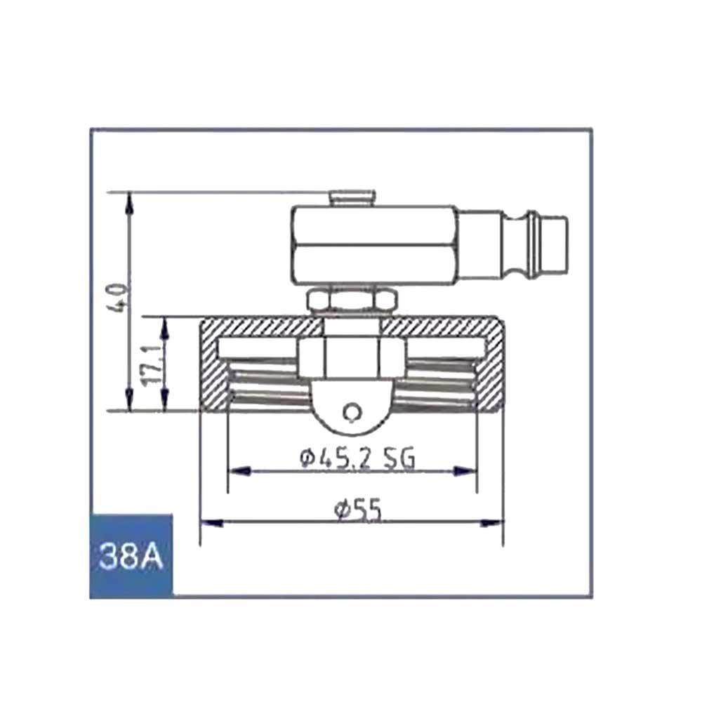 Stierius Anschlussdeckel Nr.38 A Ate 03.9302-0740.2 3-0028