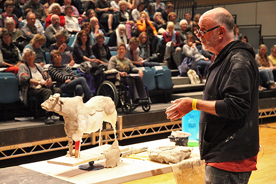 Paul Priest demonstrating in the Great Hall. (2017)
