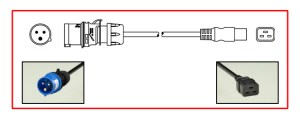 IEC60309 POWER CORD, 6H POWER CABLE, IEC 60309 POWER CORD