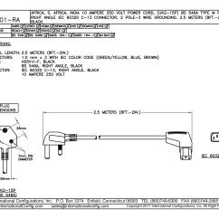 2 Pole 3 Wire Grounding Diagram Triumph Tr6 Alternator Wiring 87101 Ra Right Angle C 13 Connector International Cord Set