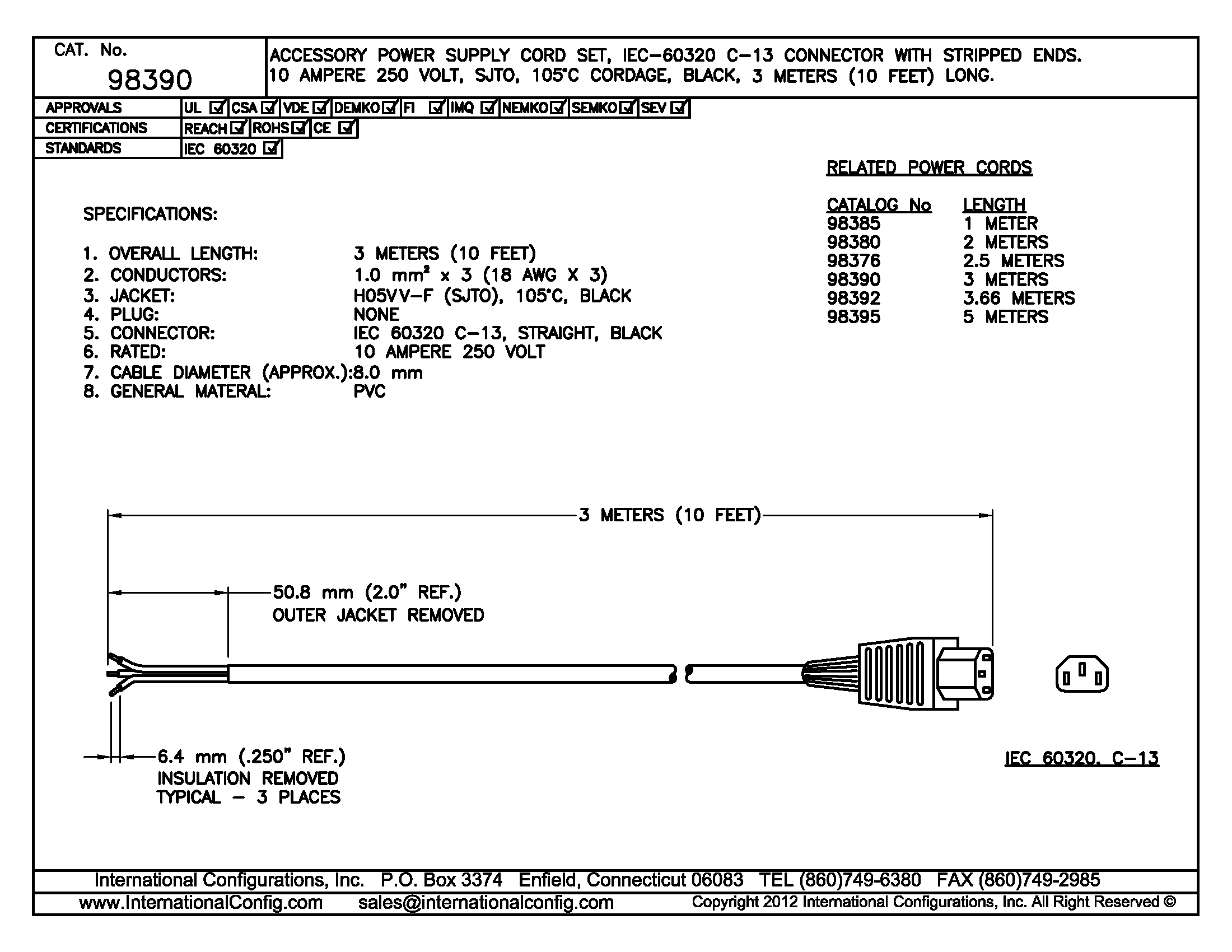 2 pole 3 wire grounding diagram chevy s10 radio wiring 98390 c 13 connector international supply cord
