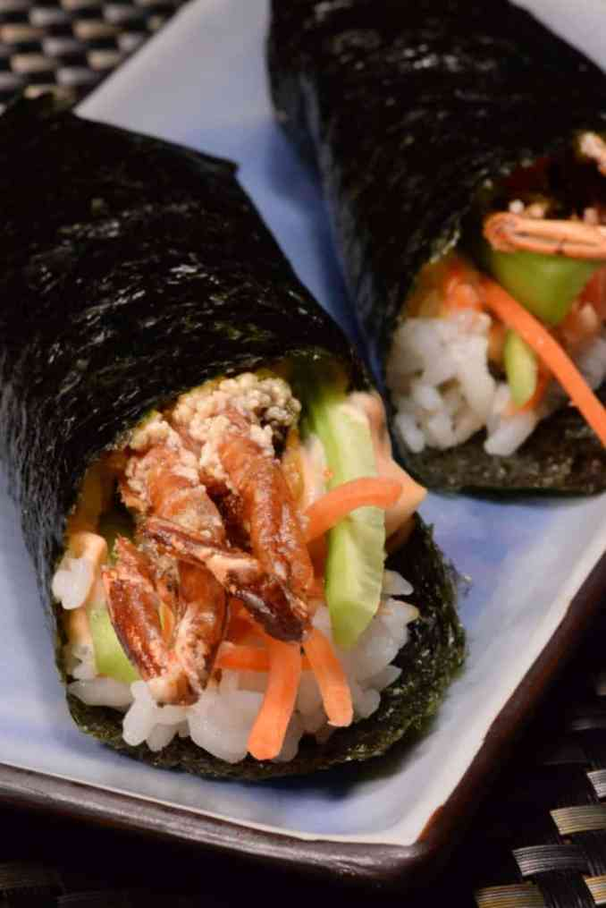 Japanese Soft Shell Crab Hand Roll - International Cuisine