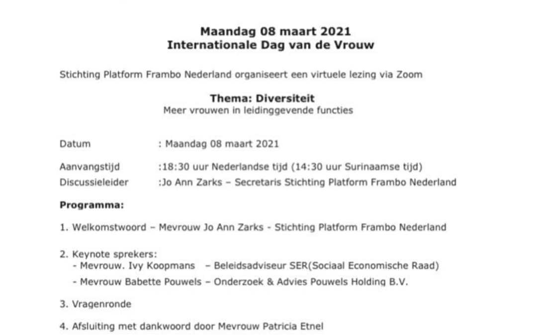Frambo internationale vrouwendag 2021