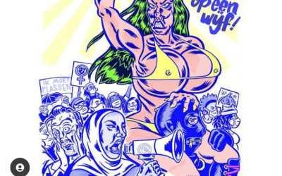 Stem op een vrouw bizarre poster