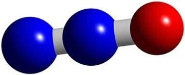 Nitrous Oxide (N2O) Molecule