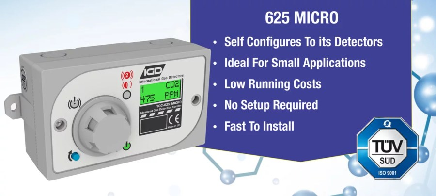 625 micro gas detection system