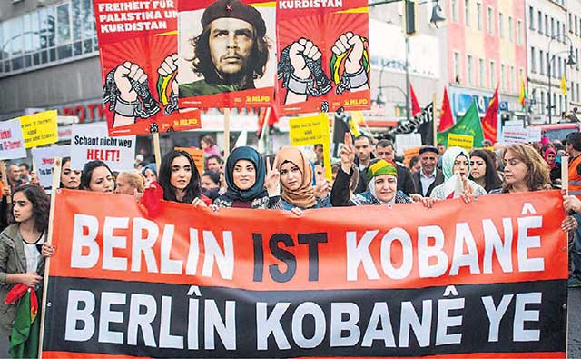 Image result for rampaging kurds germany