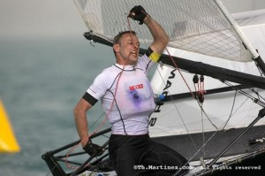 Ricky with the bit (or should that be mainsheet) between his teeth!