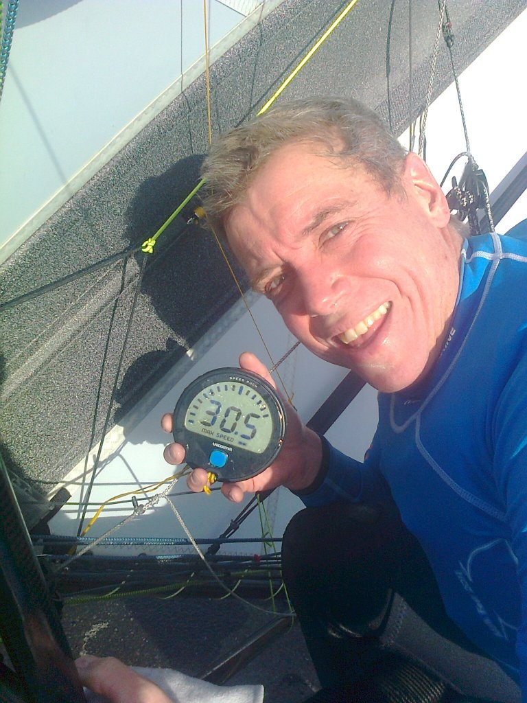 Pete Barton with the UK speed record