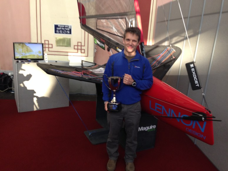 Mike Lennon with the Concours d'Elegance trophy