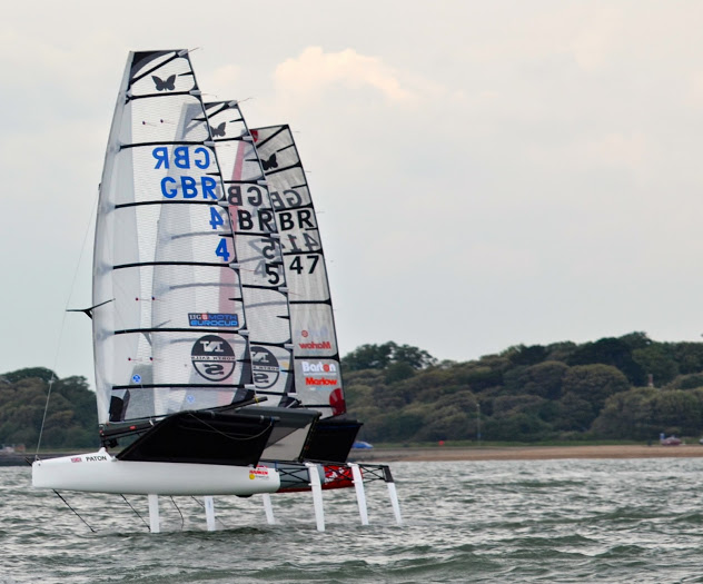 Ben Payton, Rob Greenhalgh and Mike Lennon foiling in formation