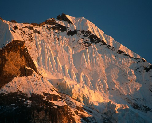 West face of Mera Peak in Nepal