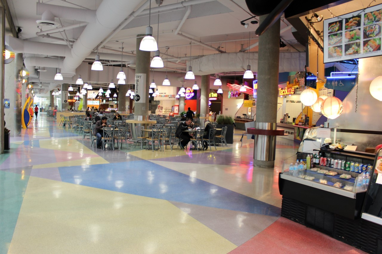 Food Court and Restaurants  Vancouver Shopping Mall