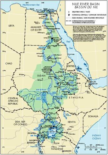 The Nile River Basin. Source: Nile Basin Initiative