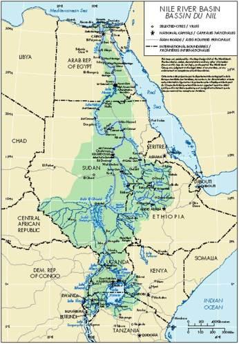 The Nile River Basin. Source: Nile Basin Initiative