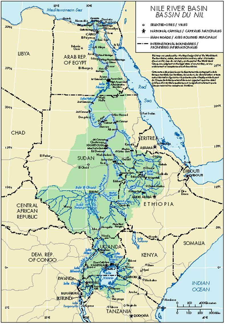 International Water Law Project Blog Blog Archive Dr Salman - World map the nile river