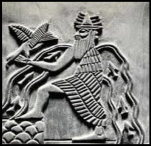Enki - Sumerian god of fresh water, as well as wisdom, intelligence, trickery and mischief