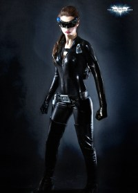 anne hathaway in full catwoman costume