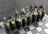 Bad Ass Aliens vs. Predator Custom Chess Set
