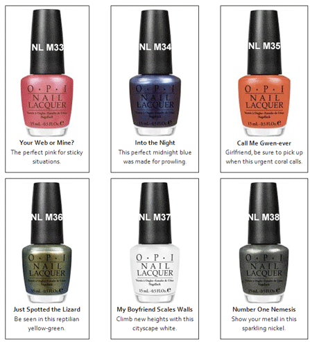 OPI Spider-man Collection