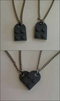 Lego couple's necklace