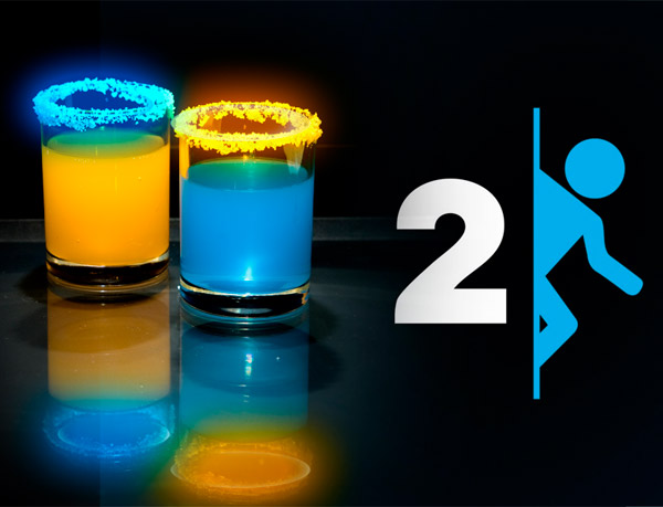 portal 2 cocktails Portal 2 Cocktails: When Life Gives You Vodka and Rum…