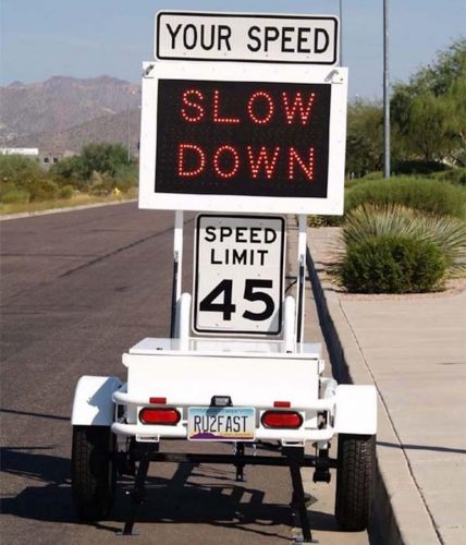 That sign telling you how fast youre driving may be spying on you