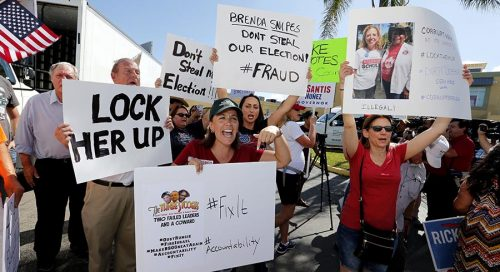 181110 protests states ap 489 500x272 Rick Scotts monitors agree with state cops: No Florida voter fraud