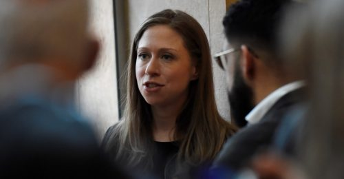 Chelsea Clinton in the Hall of Mirrors