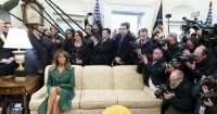 White House celebrates first ladys birthday with bizarre photo