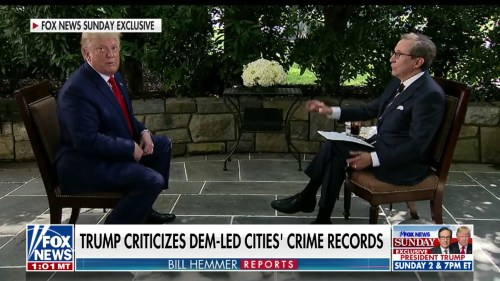 Trump Interrupts Interview to Prove Biden Wants to Defund Police. It Did Not Go Well