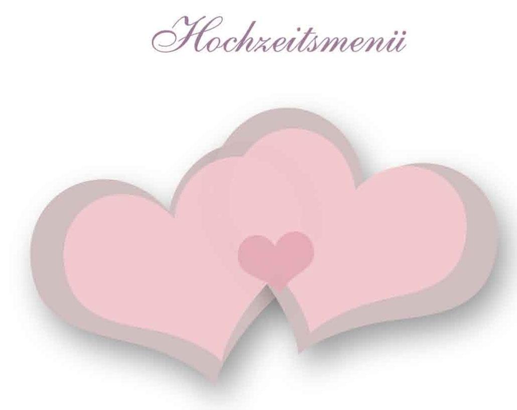 Office Vorlage  Menkarten fr Hochzeiten  gratis Download
